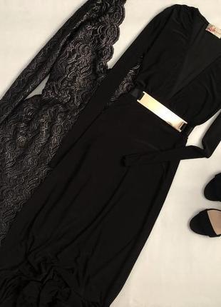 Шикарное платье макси с золотым пояском lush clothing