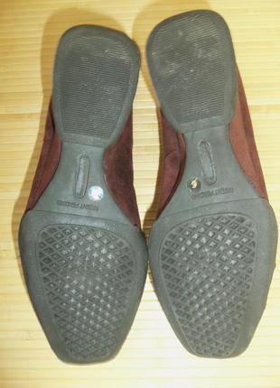 Туфли натуральная замша  танкетка3