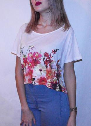 Укороченная футболка от zara