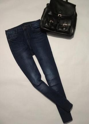 Темно синие джинсы высокая посадка