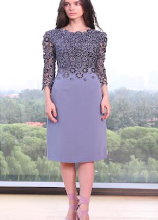 Французское платье с ажурным топом до 54 р-ра