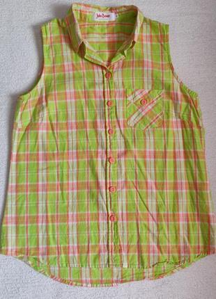 Рубашка безрукавка  в модную клетку