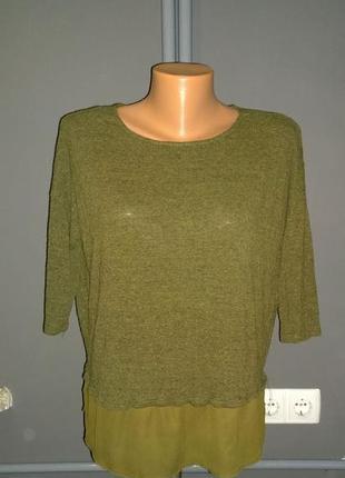 Кофточка блуза  из меланжа stradivarius