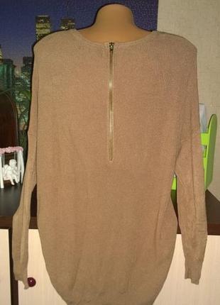 Пуловер блуза свободного кроя из мягкой пряжи atmosphere