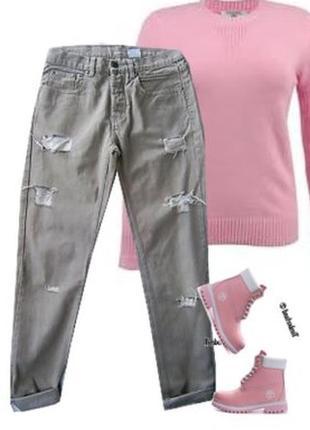 Модные рванные джинсы размер 44-46