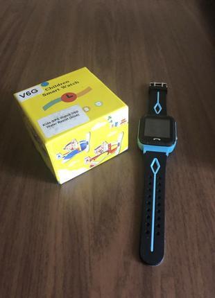 Детские gps часы smart baby watch v6g blue водонепроницаемые