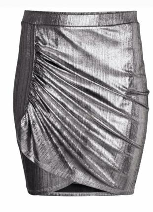 Юбка h&m модная юбка трендовая юбка с запахом