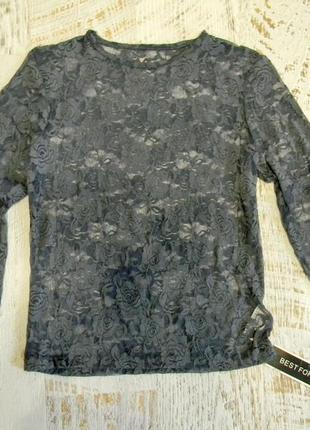 Гипюровая блузка кофта s,м