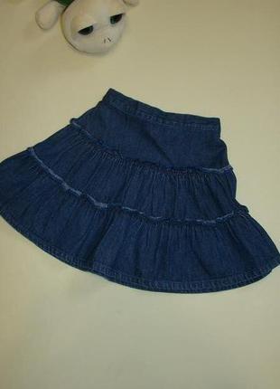 Пышная джинсовая юбка next 2-3  года