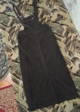 Вельветовый сарафан