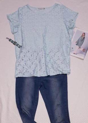 Футболка блузка кружевная мятного цвета большого размера 20 48/4xl/56 george stretch