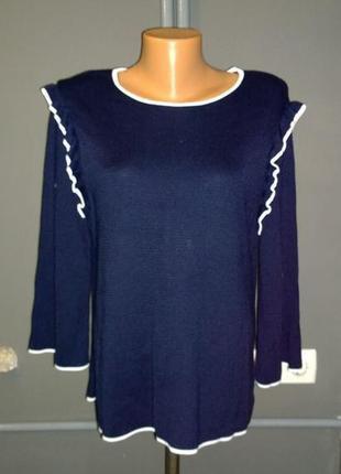 Блуза джемпер кофточка с оборками marks & spencer