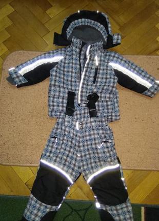 Классный зимний комбинезон на мальчика. 92 размер