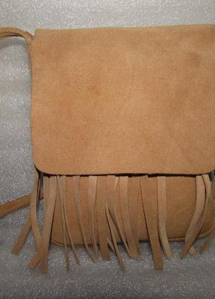 Модная замшевая сумка на плечо~jane norman~