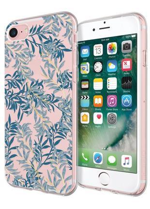 Женский стильный противоударный чехол для iphone 7 8 incipio blue willow design series1
