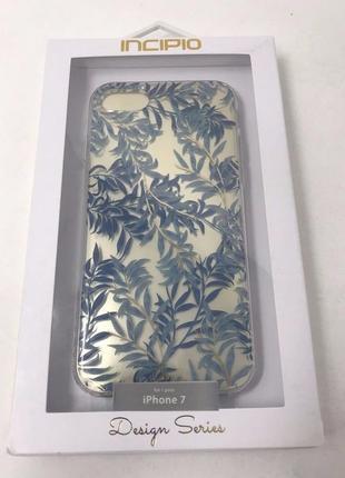 Женский стильный противоударный чехол для iphone 7 8 incipio blue willow design series4