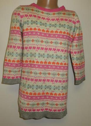 Вязаное платье 5-6лет