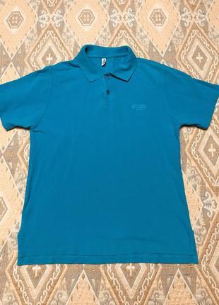 Голубая футболка-поло