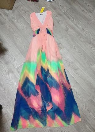 Длинное платье в пол, на торжество свадьбу выпускной