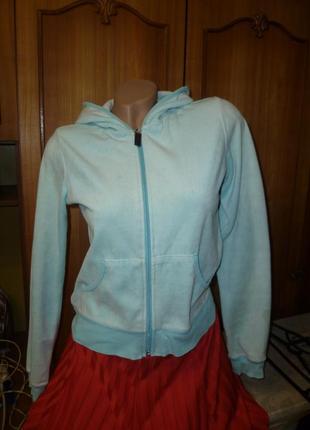 Велюровая спортивная кофта-толстовка с капюшоном на молнии,весна-лето,с длинным рукавом