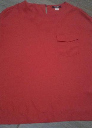 Блуза майка красная объемная