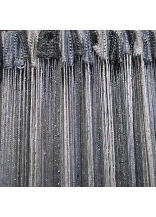 Ниточные шторы, кисея, дождь3
