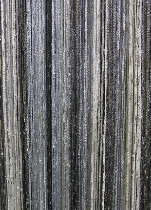 Ниточные шторы, кисея, дождь