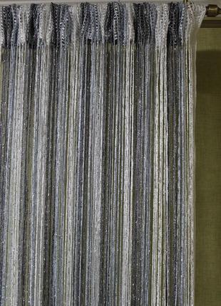 Ниточные шторы, кисея, дождь2
