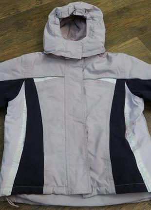 Лыжная куртка бледно-сиреневого цвета