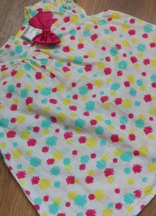 Big sale! легенькое платье туника babyberry на 6-12 месяцев и дольше1 фото