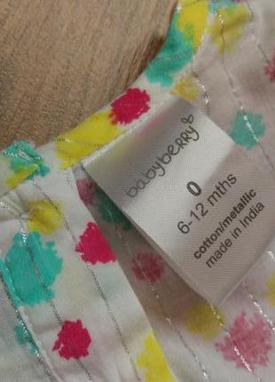 Big sale! легенькое платье туника babyberry на 6-12 месяцев и дольше4 фото