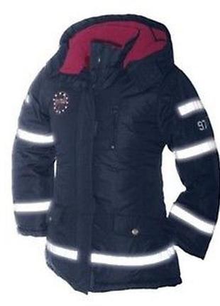 Куртка 146 девичья синяя зимняя на девочку дівоча зимова на дівчинку пальто
