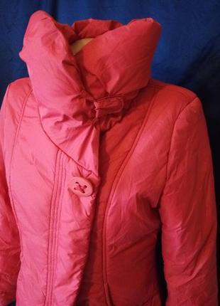 Весенняя куртка курточка с высоким воротом на синтепоне м-л