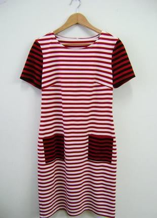 Полосатое платье. короткий рукав. м.