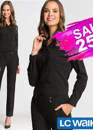 Черная женская рубашка lc waikiki / лс вайкики