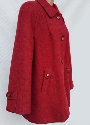 Драповое шерстяное демисезонное пальто размер 16-18(46-48)