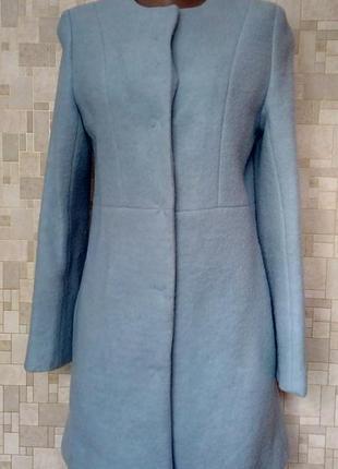 Стильное  пальто из валяной шерсти new look