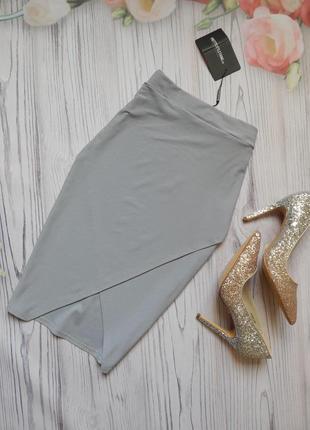 Шикарная юбка сиди с запахом от prettylittlething. размер м.