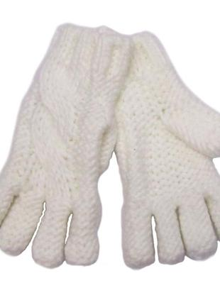 Вязаные белые перчатки для девочки, mothercare, 7545854