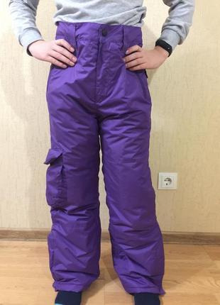 Полукомбинезон зимние лыжные штаны термо окаy (германия) р.152 в идеале
