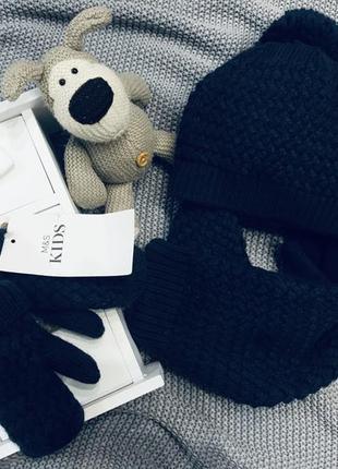 Наборчик шапка +шарф+рукавички mark&spencer