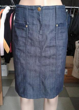 Крутая джинсовая юбка-карандаш