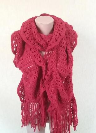 Шикарный шарф вязаный
