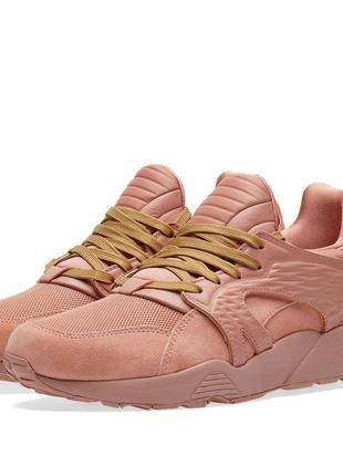 Puma розовые женские кроссовки/кожаные женские кроссовки/ puma x han kjøbenhavn blaze cage
