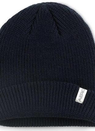 Тёплая универсальная вязаная шапка-бини американской фирмы aeropostale