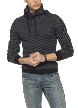 Серый мужской свитер lc waikiki / лс вайкики с воротником-хомут