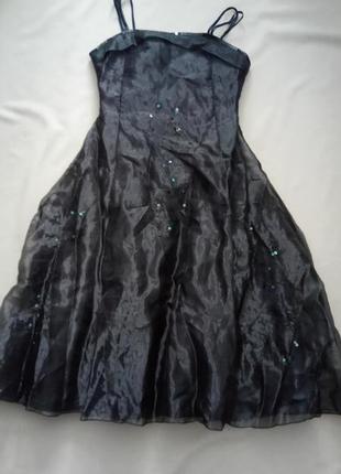Новое вечернее платье из органзы на девочку 12 -13 лет