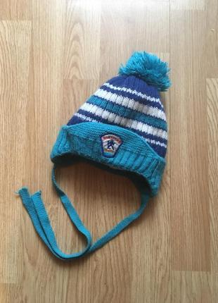 Зимняя шапка для мальчика на меху 45-49 см arctic, р .86-92