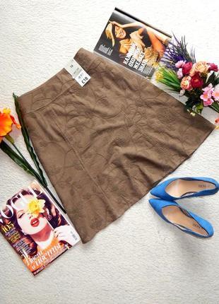Новая юбка cherokee из натуральных тканей лен, вискоза с вышивкой