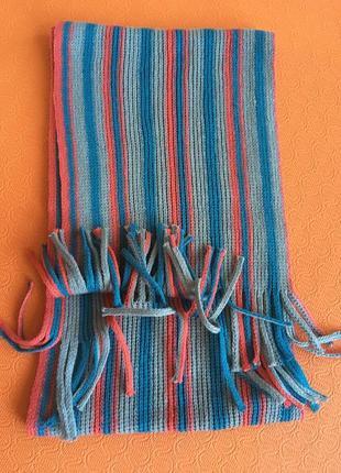 Новый шарф с кистями акрил